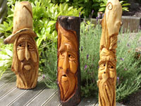 Various carvings by JB Woodcrafts